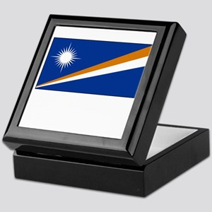 The Marshall Islands Flag Picture Keepsake Box